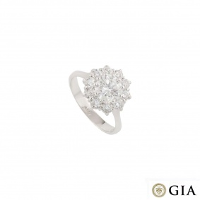 White Gold Diamond Ring 1.29ct F/VS2